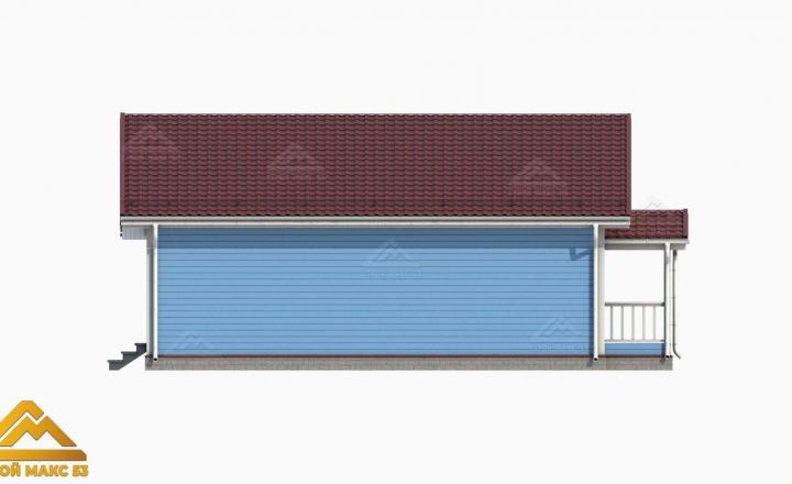 3-д графика фасада финского дома вид сзади