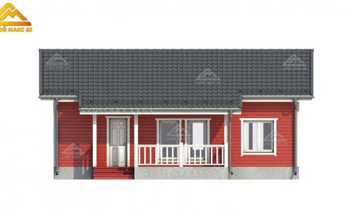 3-д изображение фасада каркасного дома под ключ СПб вид спереди