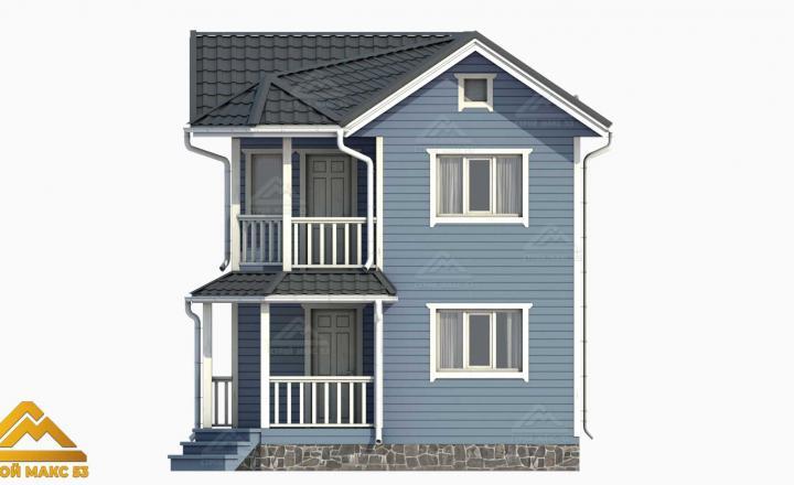 3-д визуализация финского дома с эркером