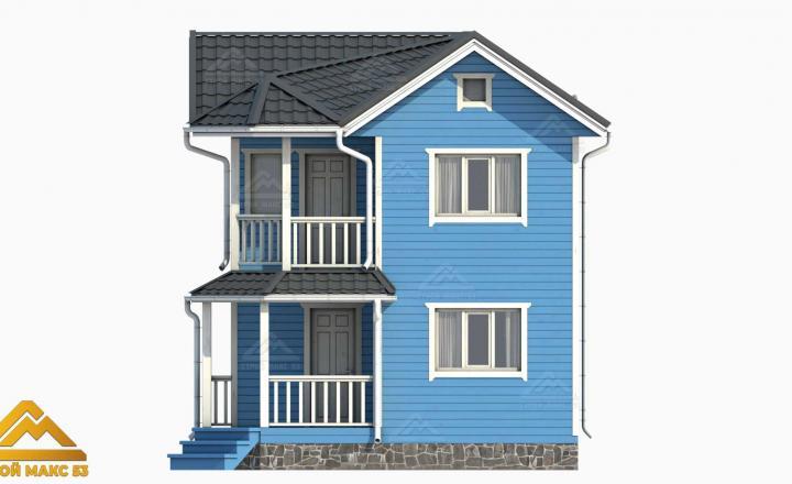 финский дом с мансардой 3D-рисунок