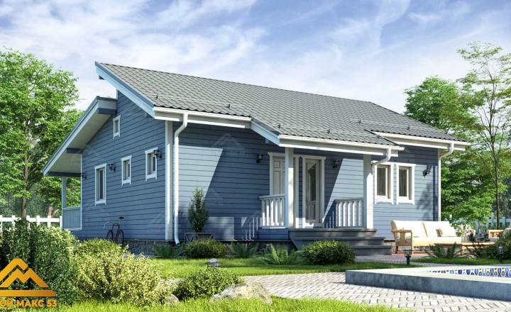 финский одноэтажный дом 10 на 12