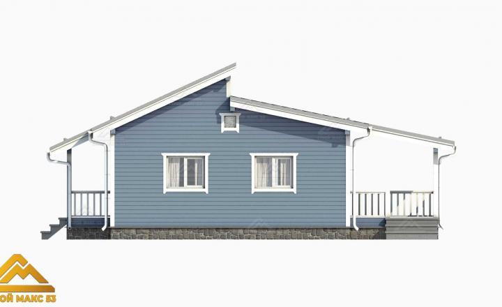 3-д рисунок фасада финского дома с террасой