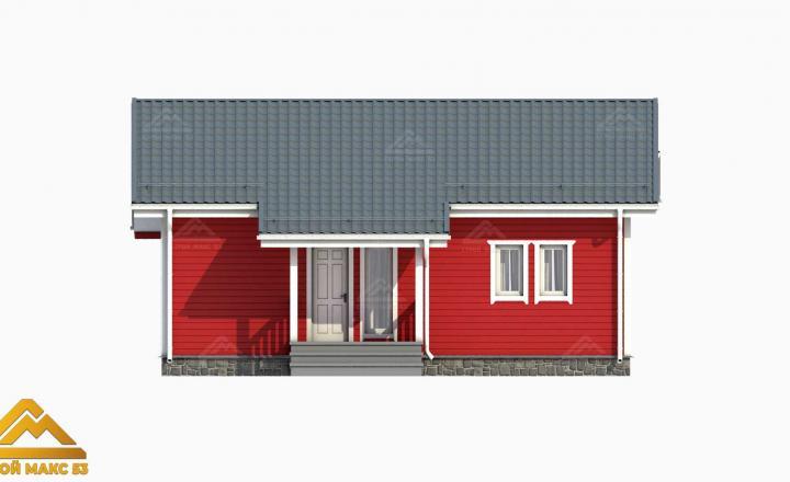 финский дом с террасой 3D-рисунок