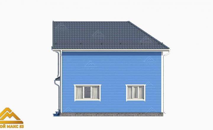 3-д графика фасада финского дома сбоку