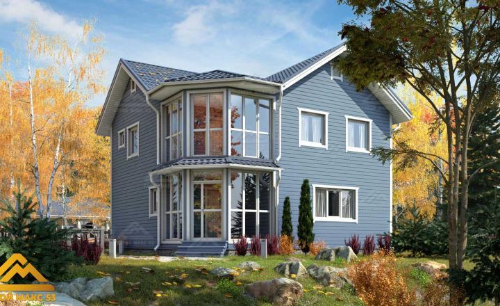 финский дом с балконом 9 на 9