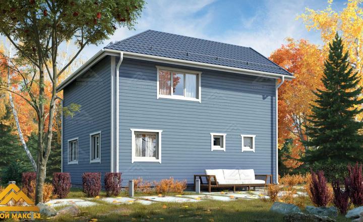 двухэтажный финский дом 9 на 9 под ключ