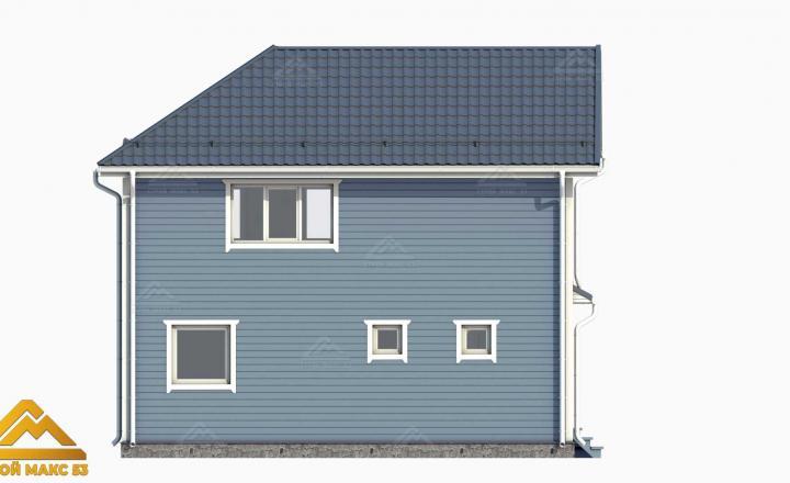 3-д рисунок фасада финского дома сбоку