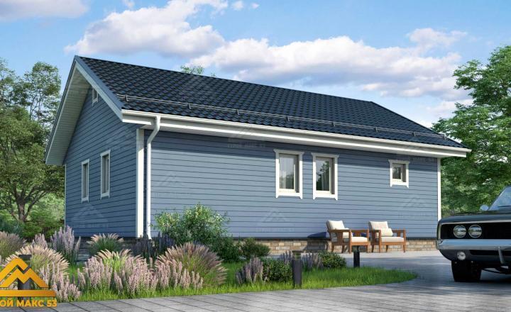 финский дом с террасой 10 на 8