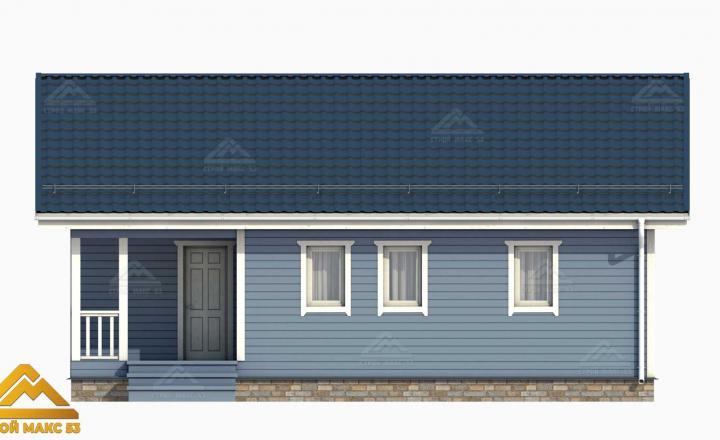проект 3-д финский дом с террасой