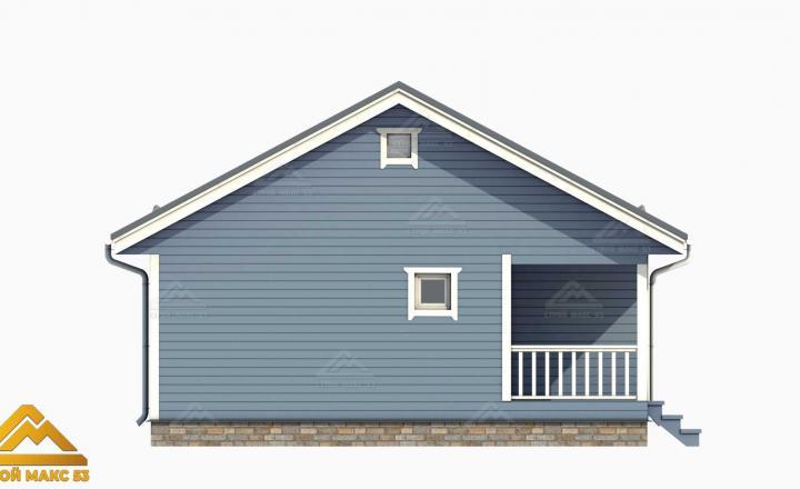 рендер фасада голубого цвета финского дома
