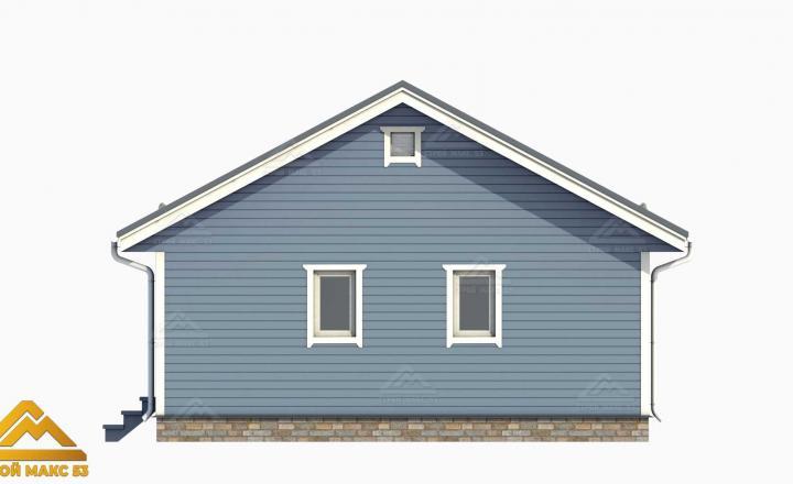 голубой фасад финского дома 3D-проект