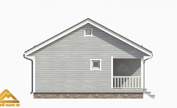 3-д модель финского дома серый фасад