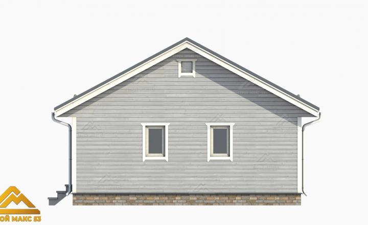 3д-проект фасад финского дома 10 на 8 сбоку