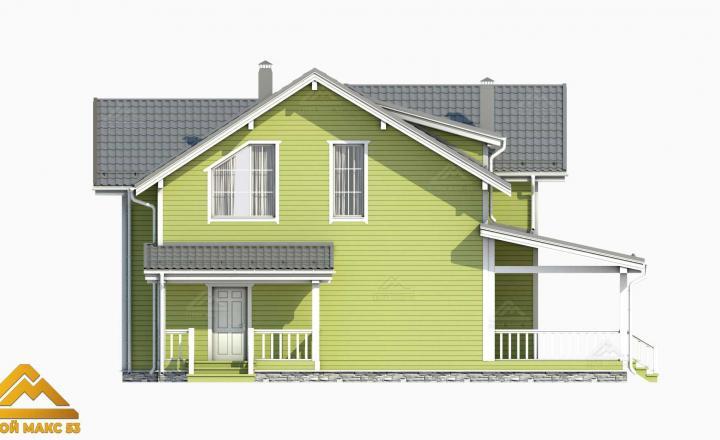 3д-проект фасада финского дома 14 на 17