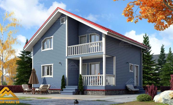 финский дом с балконом под ключ