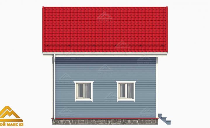 фасад финского дома 3-д вид сбоку