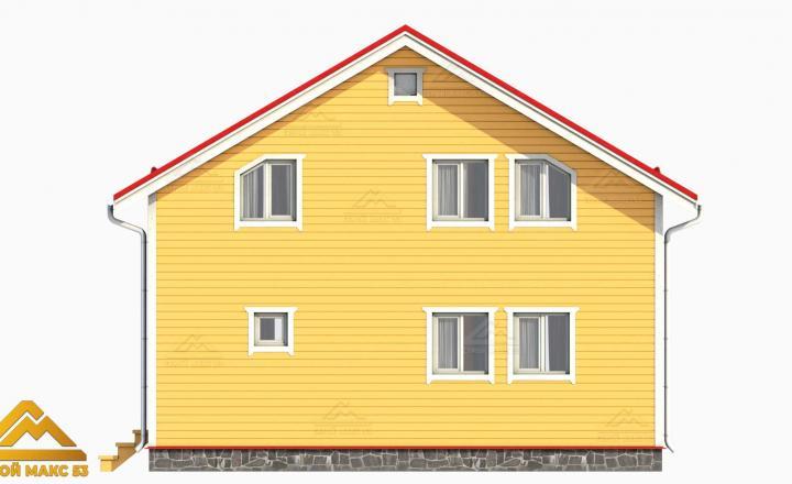 желтый фасад финского дома 3D-проект