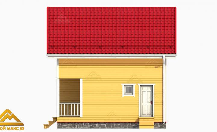 финский дом 3-д графика вид сбоку