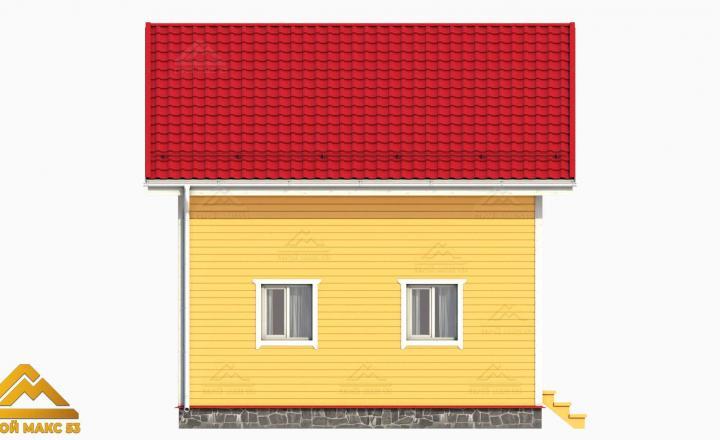 двухэтажный финский дом вид сбоку проект 3д