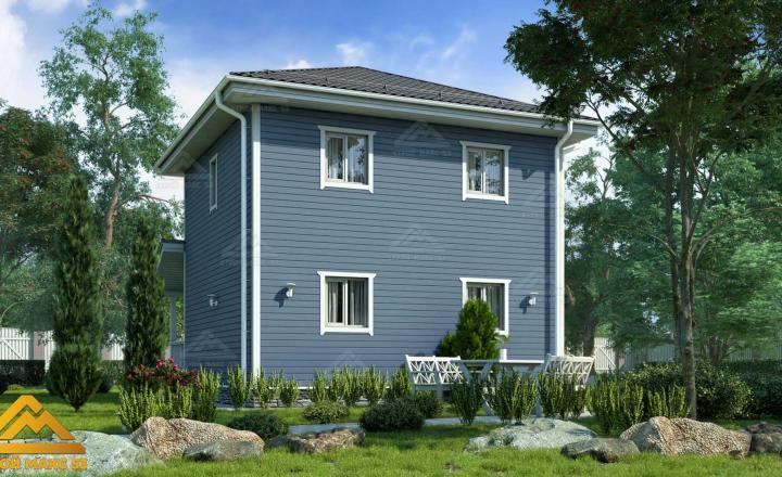 финский двухэтажный дом 7 на 10
