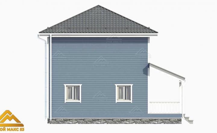 графическое изображение финского дома сбоку
