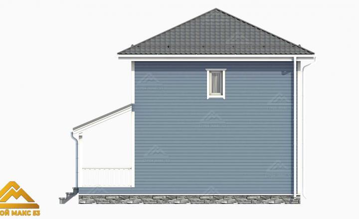 проект 3-д финский дом с террасой вид сзади