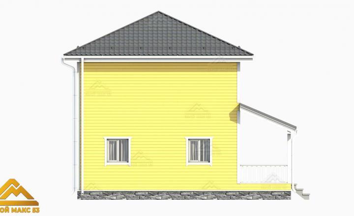 финский дом сбоку 3-д графика