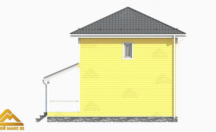 3-д рисунок финского дома 7 на 10 вид сбоку