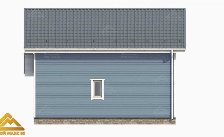 3-д проект двухэтажного финского дома голубой фасад