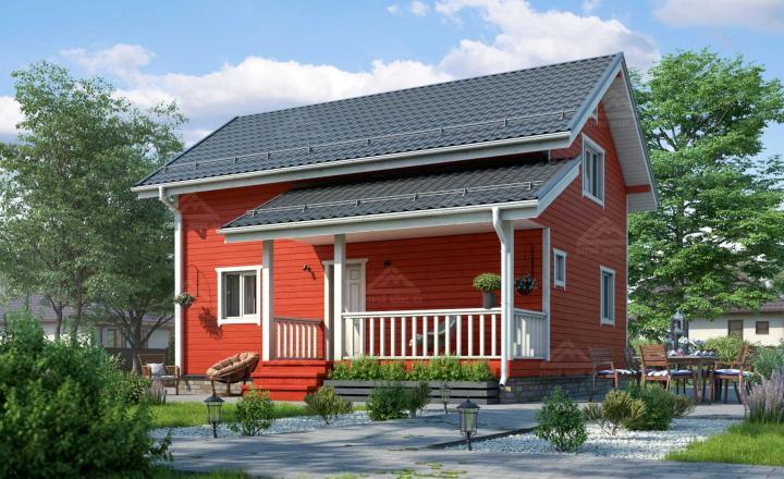 финский дом с террасой