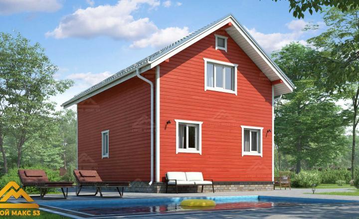 двухэтажный финский дом 6 на 9