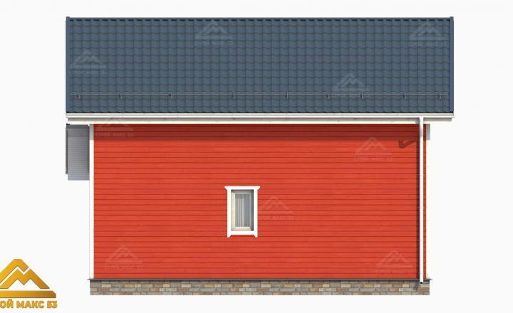 фасад финского дома 6 на 9 сзади
