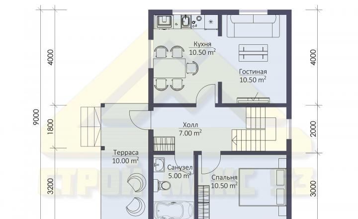 планировка финского дома 6х9