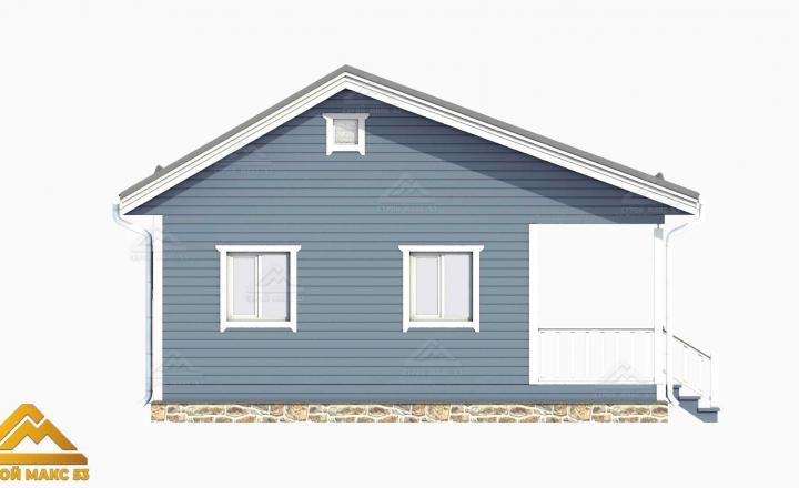3-д визуализация финского дома 6 на 9