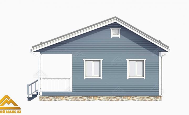 3-д проект финского дома с верандой 6х9