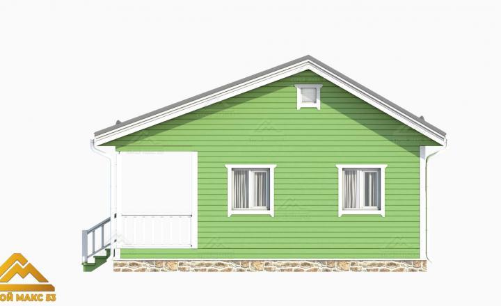 одноэтажный финский дом 3-д визуализация фасада
