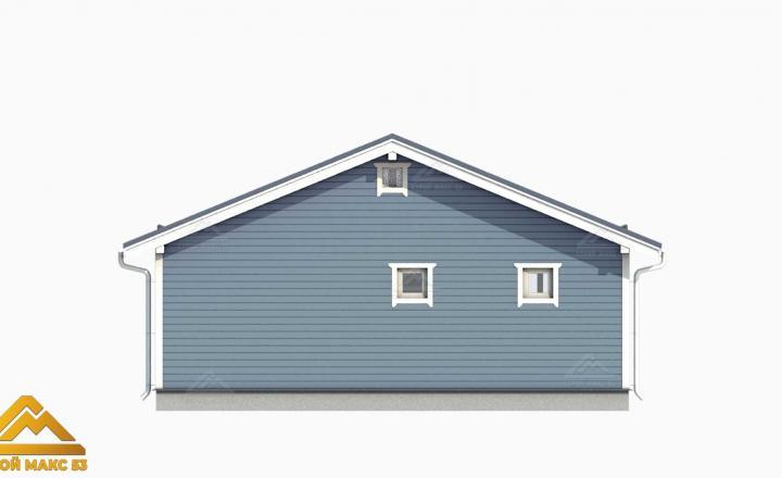 3-д визуализация дом по финской технологии вид сзади
