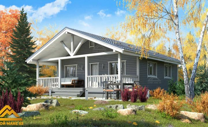 финский одноэтажный дом 9 на 10