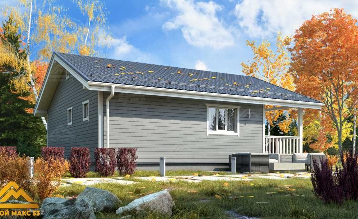 финский дом 9х10 с террасой