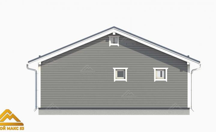3д-проект фасада финского дома 9 на 10 сзади