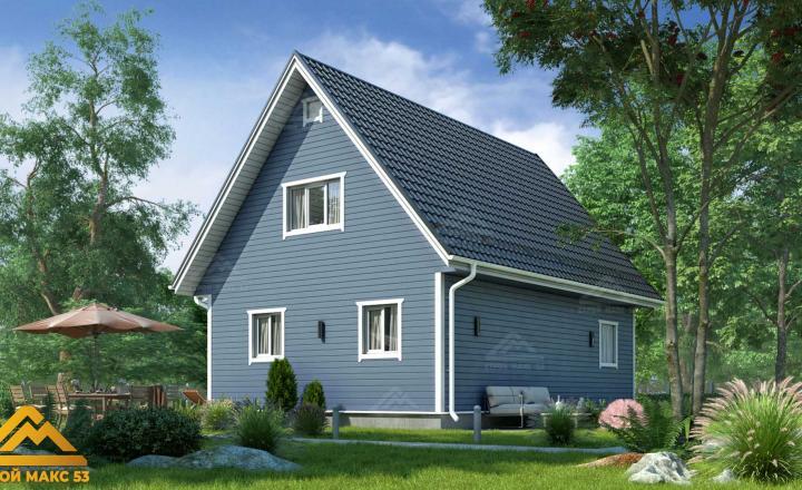 финский дом с мансардой