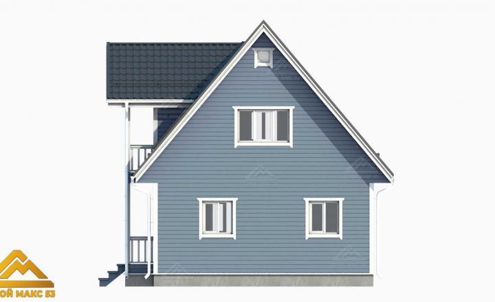 3д-проект фасад финского дома сбоку