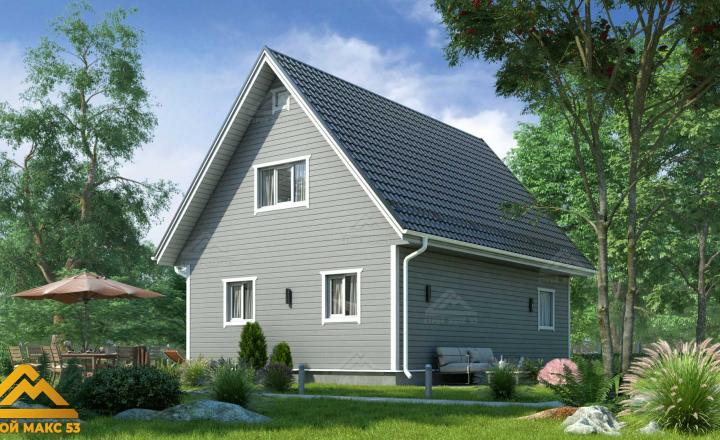 финский дом 10 на 8