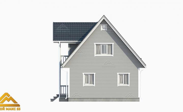 фасад финского дома вид сбоку