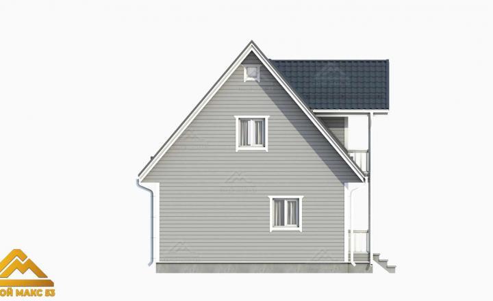 3д-рисунок фасада финского дома сбоку