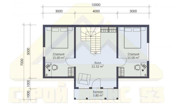 план второго этажа финского дома