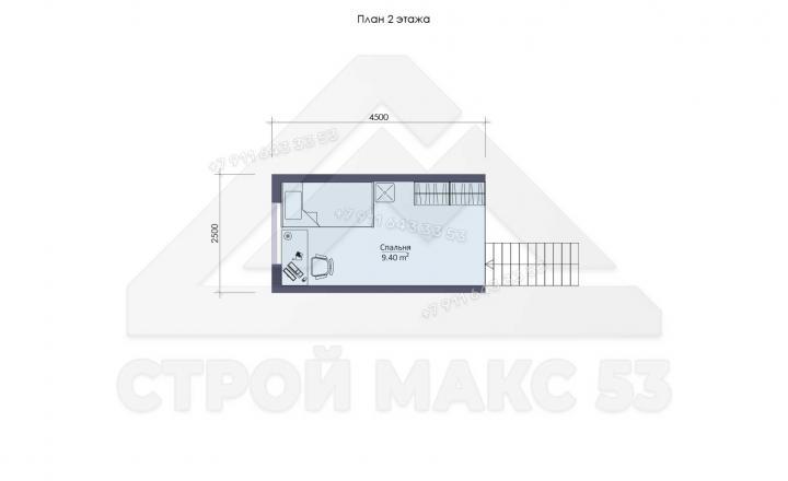 планировка второго этажа финского дома 12 на 10 в Ленинградской области