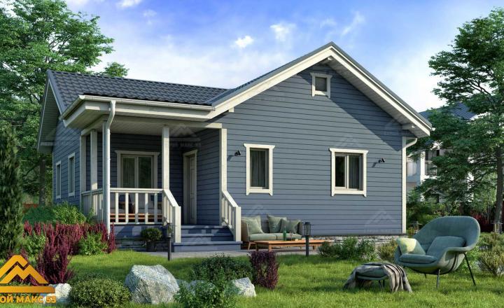 финский дом с террасой 9 на 9
