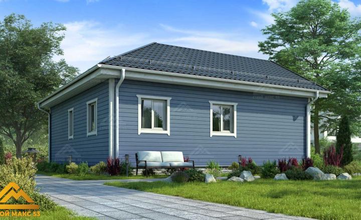 одноэтажный финский дом 9х9 под ключ