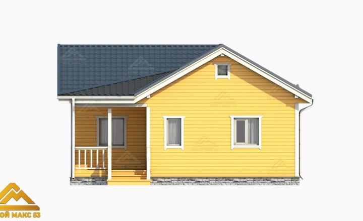 3-д визуализация финского дома с террасой